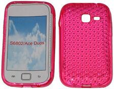 Para Samsung Galaxy Ace Duos Gt S6802 patrón Gel Suave Estuche Protector De Cubierta Rosa