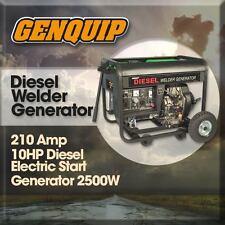 Diesel 10HP GENQUIP Welder/Generator 210Amp Electric Start