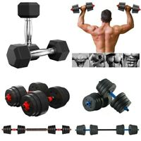 Adjustable Dumbbell Hex Dumbbell Barbell Set CAP Fitness Weight 10 To 110lb GYM
