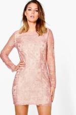 Vestidos de mujer de color principal rosa de encaje