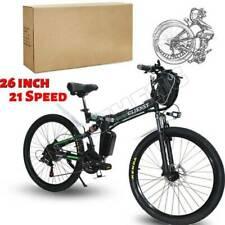 26'' 350 W 36V 21Speed Electric Mountain Folding E-Bike Bicycle SHIMANO ⭐⭐⭐⭐⭐