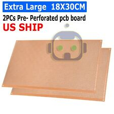 2pcs Prototype Perforated Pcb Universal Bread Board 18 X 30cm Sigle Side Copper