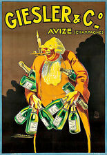 Art Ad Giesler Champagne  Drink Alcohol Drinks Pub Bar Chic Deco   Poster Print
