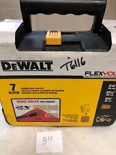 DeWALT DWAFV07SET 7-Piece FLEXVOLT Carbide Wood Drilling Hole Saw Kit