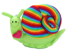 Happy Snail Toy Cushion - soft and cuddly gifts for kids and children - Green