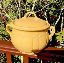 STONEWARE YELLOW BEAN POT Celebrating HOME INTERIOR HOMCO GUC Casserole LID