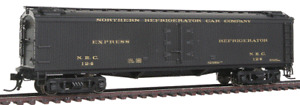 "Broadway Limited # 1836 Gen Amer(GACX)53'6"" Wood Express Reefer NRC #124  HO MIB"