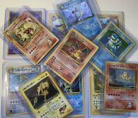 Vintage Pokemon 10 Card LOT -LP+- 1st Edition, Holo, Rare, Shadowless GUARANTEED