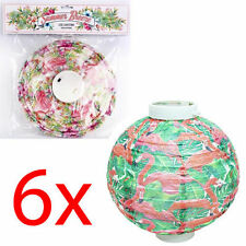 Hanging Flamingo Led Paper Light Wedding Party Summer Home Lamp Shade Lantern x6