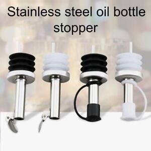 Bottle Pourer Spout Stopper Dispenser Liquor Flow Set Oil Wine Olive Silicone