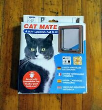 Petmate Cat Mate Lockable Cat Flap Brown 309B 4 way locking
