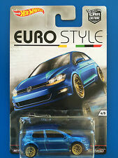 RARE 2016 Hot Wheels Car Culture EURO STYLE 2012 VOLKSWAGEN GOLF MK7 mint card!