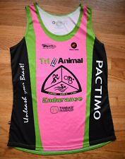 PACTIMO Tri Animal Triathlon Loose Fitting Running Jersey Womens XL Pink Green