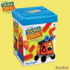 STICKLE BRICKS Fire Engine and Station Building Set with base plate Lid
