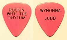 The Judds Wynonna Judd Rockin With The Rhythm Pink/Black Guitar Pick - 1986 Tour
