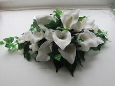 Calla Lily & Rose Small Wedding Top Table Reception Or Car Flowers Artifical