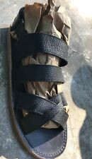 New Zara Collection Boys Black Leather Sandals 35 Us 3.5