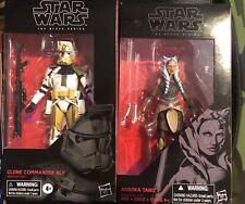 Star Wars Black Series Lot of 4 Commander Bly Ashoka Zeb Hoth Trooper