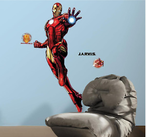 IRON MAN GIANT PEEL AND STICK GIANT WALL DECALS WITH GLOW Roommates NEW