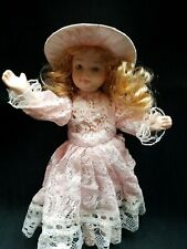 "Vtg! Cracker Barrel Old Country Store Collectible porcelain doll 8"" Hand Painted"