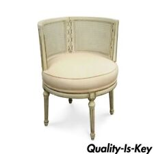 French Antique Furniture Fabric Accent Chairs