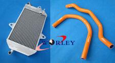 40mm aluminum radiator Yamaha banshee YFZ350 YFZ 350 87-07 +orange silicone hose