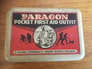 Paragon Pocket First Aid Outfit Tin Scouting Cycling Camping Hiking Baden Powell