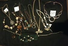 Jewelry Lot of 10 Necklaces. Bulk. Wearable. Some matching earrings. See photos