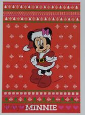 Christmas Disney Mickey Mouse & Friends Minnie Mouse Red Bed Blankets 62x90 NIB