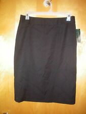 NWT NEW womens ladies size 12 black HARVE BENARD wool skirt