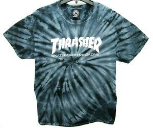 Thrasher Skateboard Magazine Size Large Tie Dye T Shirt