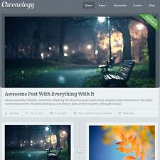 WordPress 'CHRONOLOGY' Website eCommerce Magazine Theme For Sale (FREE HOSTING)