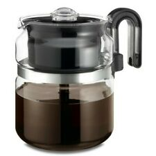 Percolator Coffee Pot Stovetop Electric Gas 8Cup Ceramic Kitchen Stain Resistant