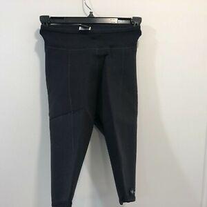 Vintage Patagonia XS Lotus Design Neoprene Shorts Wetsuit Black Surfing Womens