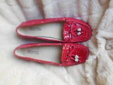 Women's Michael Michael Kors Mocs. Size 6.5 (B,M) Casual Solid Red Leather