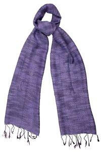 Purple Scarf Silk & Cotton Weave - Fair Trade BNWT 180cm x 40cm