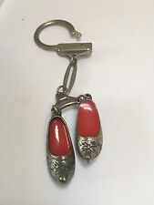 Old Vintage Spanish Shoes Keyring - Dancers Flamenco Classical