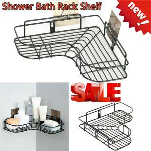 Triangular Corner Shower Caddy Shelf Bathroom Rack Storage Holder Organizer