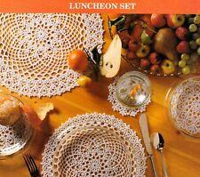 ELEGANT Luncheon Doily Set/Crochet Pattern INSTRUCTIONS ONLY