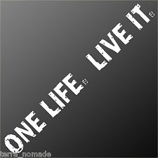 Huge Camel Trophy ONE LIFE. LIVE IT.  Decal, Stickers, 4X4, Land Rover,
