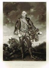 "Mezzotint Engraving Proof - ""DUKE of ORLEANS"" - by Sir Joshua Reynolds - c1820"