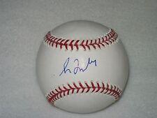 GREG MADDUX HOF MLB SELIG AUTOGRAPHED SIGNED BASEBALL CUBS MOUNTED MEMORIES