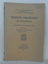 BIBLIOTHEQUE PAUL MURET  CATALOGUE DE VENTE 1937