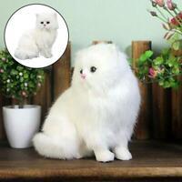 Realistic Persian Cat Simulation Toy Dog Puppy Lifelike Stuffed Companion Toy