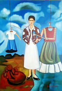 FRIDA KAHLO, HANDMADE OIL  PAINTING ON CANVAS (Frameless) 50x70 cm