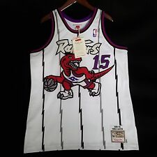 100% Authentic Vince Carter Mitchell Ness Raptors Home Jersey Mens Size 48 XL