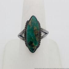 Large Native Southwestern Turquoise Silver Ring