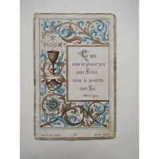 IMAGE PIEUSE ANCIENNE : Souvenir de Communion, Joseph Saussac, 1896