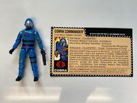 Vintage GI Joe ARAH 1982 Mickey Mouse Cobra Commander MMCC Near Mint Repro Card