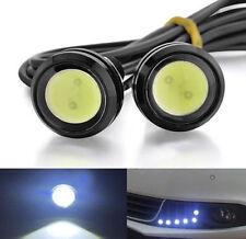 12V 9W Car Motorcycle Eagle Eye LED Day Running Lights White Lamp Screws